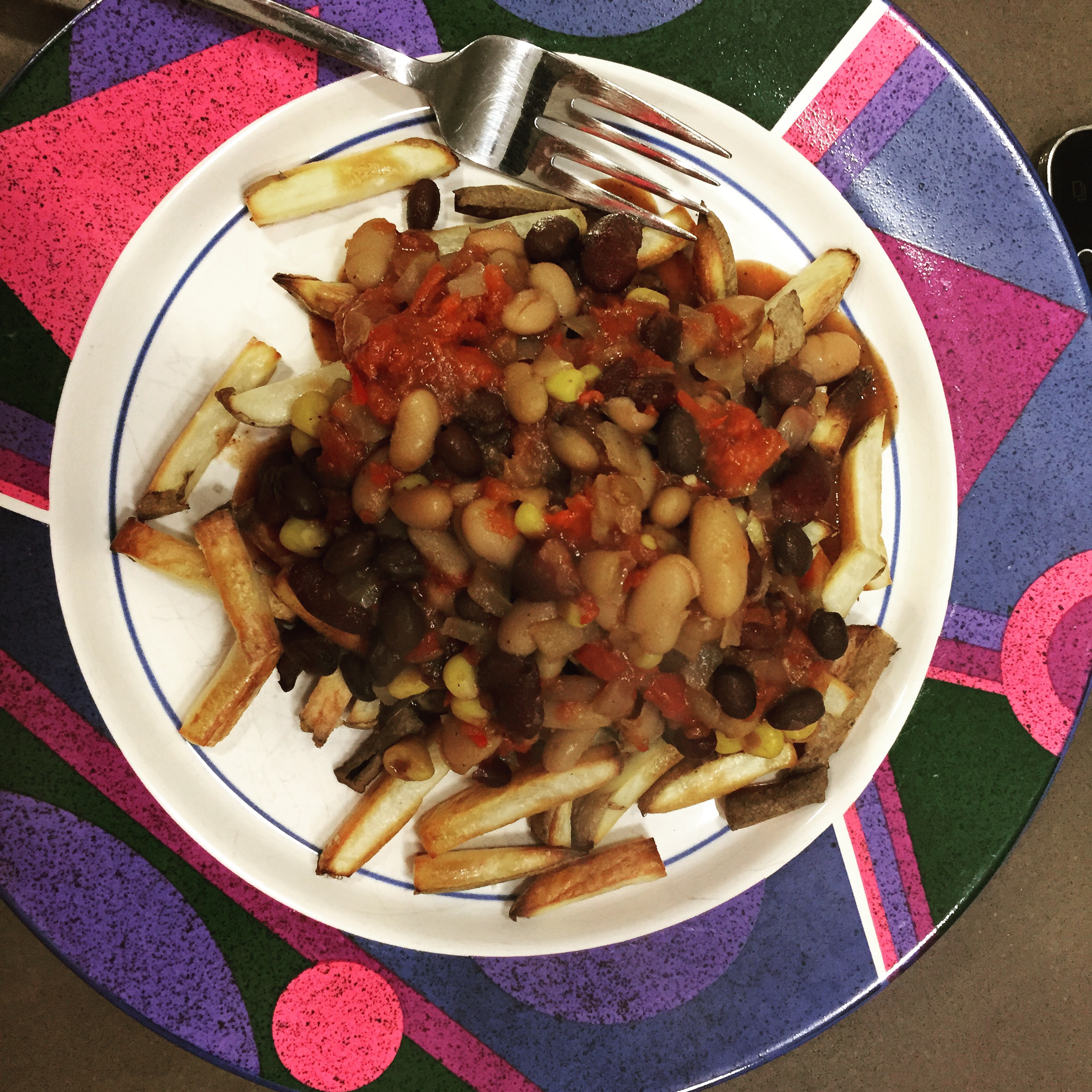 Guilt free chili fries!