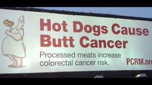Hot Dogs Cause Butt Cancer